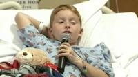 A nine-year-old boy from Florida has been speaking about the moment he fought off a nine-foot long alligator with his bare hands.