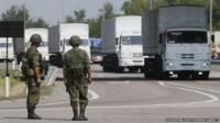 Russian humanitarian convoy moves to Ukraine