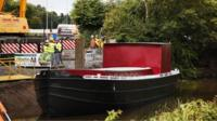 The barge back on the River Lagan