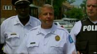 St Louis Police Chief Sam Dotson giving media briefing on latest shooting