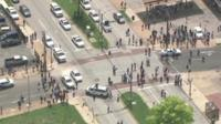 Scene of shooting in St Louis