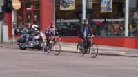 Cycling in city centre