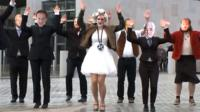 Lady Alba dancing in video