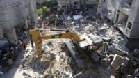 Aftermath of air strike in Gaza