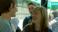 Students react to their exam results