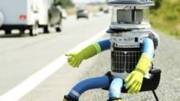 Hitch-hiking robot HitchBOT