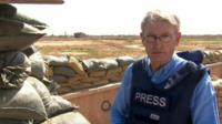 Jim Muir at trench