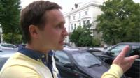 Sergiy Burnus, an activist in London campaigning for a free and independent Ukraine