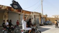 Islamic state supporters in Raqqa Syria 24 August 2014