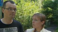 Joshua's stepfather Michael Morgan and mother Cheryl Morgan