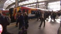 Train at London Waterloo