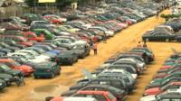 Used car lot in Benin