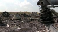 Crash site of MH17