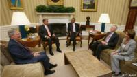 President Obama with Congressional leaders