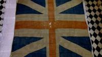 An eighteenth century Union flag.