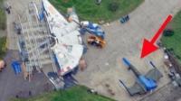 Star Wars ships on Greenham Common