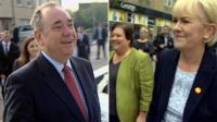Alex Salmond and Johann Lamont