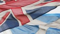 Union flag and Saltire flag