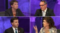 Ruth Davidson, Stewart Hosie, Douglas Alexander and Elaine C Smith