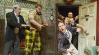 A scene from The Play That Goes Wrong