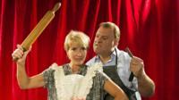 Emma Thompson and Bryn Terfel as Mrs Lovett and Sweeney Todd
