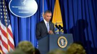US President Barack Obama delivers remarks at the Centers for Disease Control and Prevention
