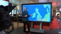 gatecrashed the BBC Weather centr