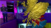 Jeremy Vine with interactive map of Scotland