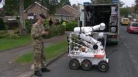 Bomb disposal at scene