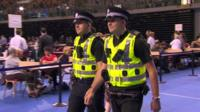 Two policemen at Glasgow count