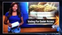 Charlo Greene presenting a report on cannabis before quitting her job on live TV