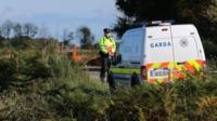 Police van at scene where remains were found