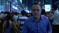 Martin Patience reports from amongst a crowd of Hong Kong protesters