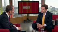 Andrew Marr interviewing Nick Clegg MP