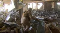 Hospital reduced to rubble in Rabia
