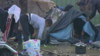 The migrant camp in Calais
