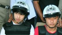 Suspects in Thai murder case - archive image