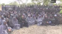 Still from Boko Haram showing abducted schoolgirls