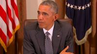 President Barack Obama speaking at White House meeting on Ebola outbreak