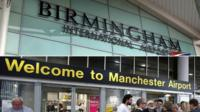 Passenger screening to be extended to Manchester and Birmingham airports