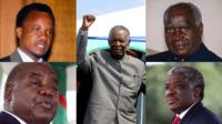 The five presidents of the Republic of Zambia