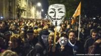 Internet tax demonstration in Hungary