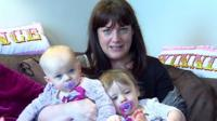 Single mum Abi and her twin girls