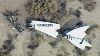 Wreckage of Virgin's SpaceShipTwo
