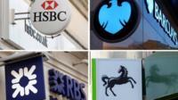 UK big 4 banks montage
