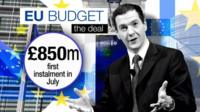 UK will now pay only £850m