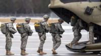 File photograph of US troops boarding military aircraft