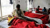 Women being treated in hospital