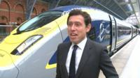 Eurostar chief executive Nicolas Petrovic with the new train