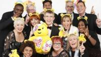 A photo issued by Official Charts Company of choirmaster Gareth Malone's All Star Choir